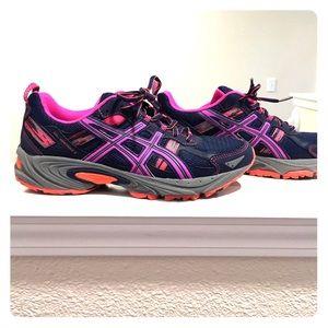 Asics Gel Venture-5 running shoes 9 navy/pink